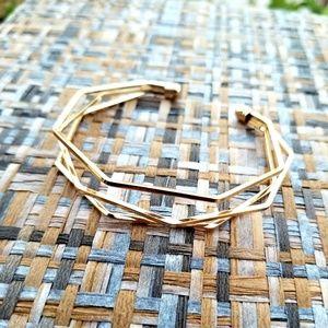 Jewelry - Gold Geometric Bangle Cuff Bracelet